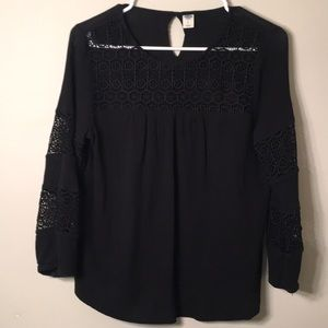 Black lace blouse, with laced sleeves 💗